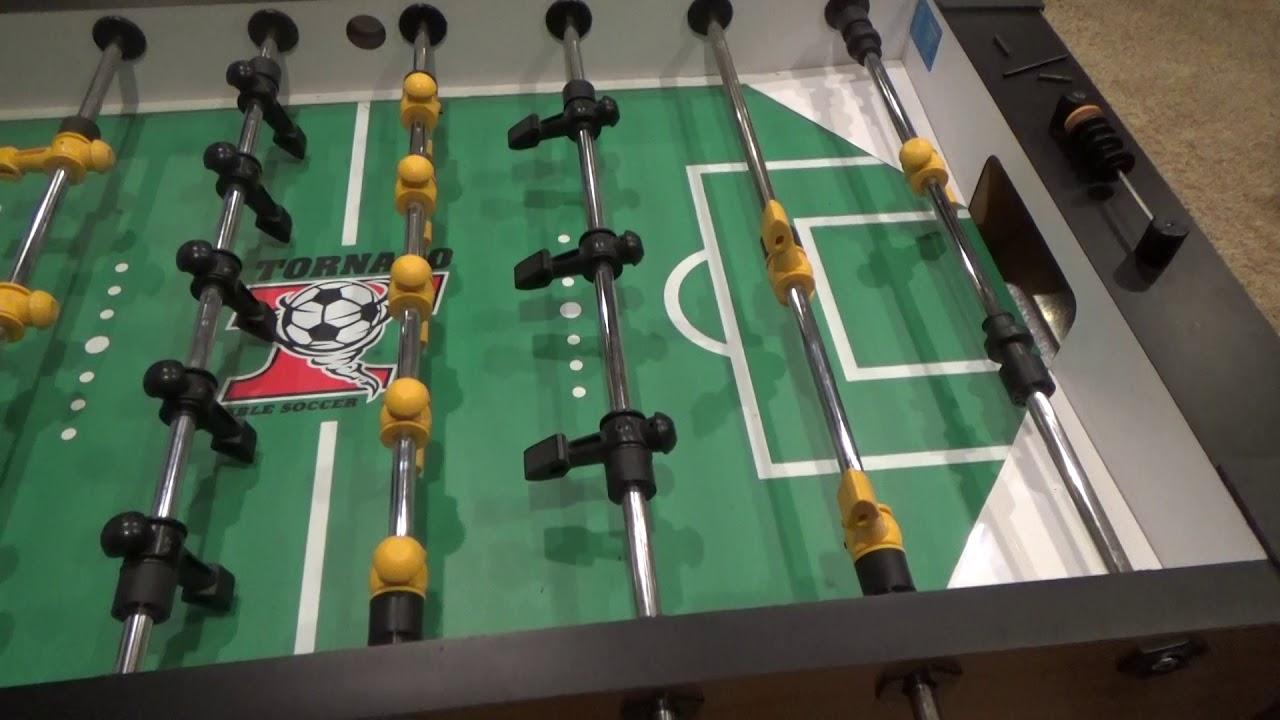 Tornado Foosball Three Goalie To One Conversion YouTube - Single goalie foosball table