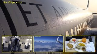 Jet Airways Boeing 737-800 Business Class Kathmandu to New Delhi [AirClips full flight series]