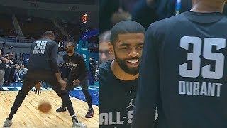 Kevin Durant & Kyrie Irving Play One-on-One But End Up Laughing At Each Other! thumbnail