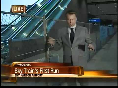 Sky Train takes first trip at Sky Harbor Airport
