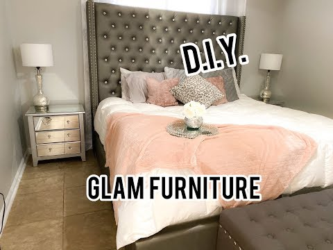 D.I.Y Glam furniture| Mirrored Night Stand Hack!!