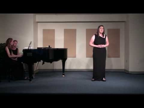 "Schumann's ""Du Ring an meinem Finger"" Sung by Abigail Wolking, senior recital"