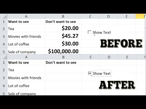 exel how to add check boxes