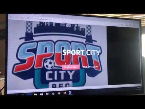 Registering for a Sport City Sport or Event via Computer