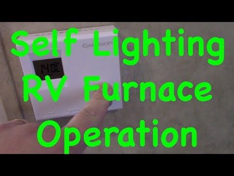 How To Turn On A Self Lighting RV Furnace & Trouble Shooting