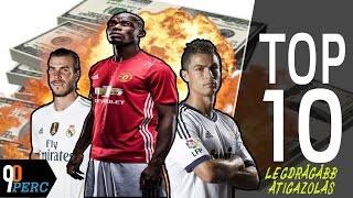 A futball-történelem TOP 10 legdrágább átigazolása