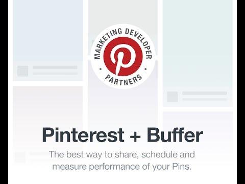 Pinterest + Buffer: A quick peek!