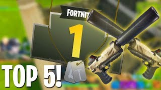 FORTNITE NEW SILENCED PISTOL TOP 5 PLAYS!