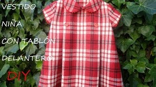 Como hacer un vestido de niña con tablón delantero. Compralo en tienda.patronesmujer.com