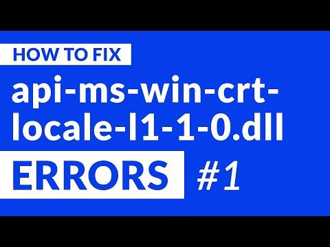 Api-ms-win-crt-locale-l1-1-0.dll Missing Error   2020   Fix #1