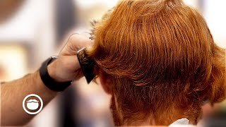 Curly Redhead Gets Big Hair Transformation + Nose Waxing