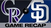 Offense backs Marquez in Rockies&#39 8-3 winRockies-Padres Game Highlights 8/11/19