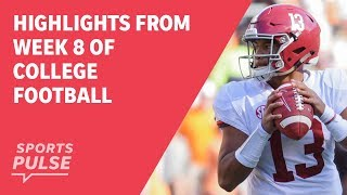 Top highlights from Week 8 of college football