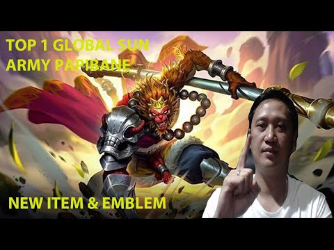 Tutorial Sun Mobile Legends By Top Global 1 Army Papibane Part 4 New Emblem And Item