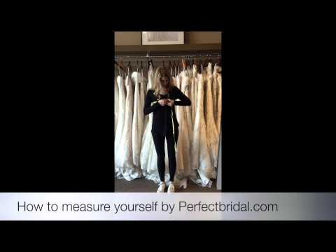 How to measure yourself for bridesmaid dresses