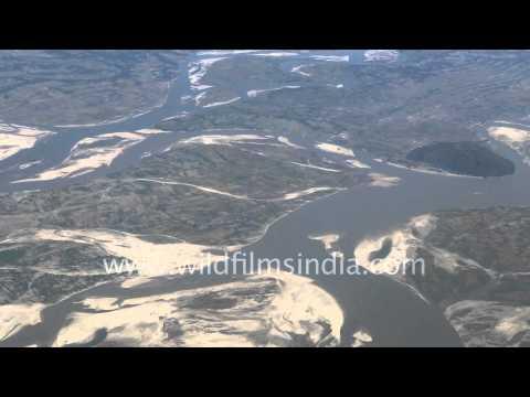 Brahmaputra river - Aerial view