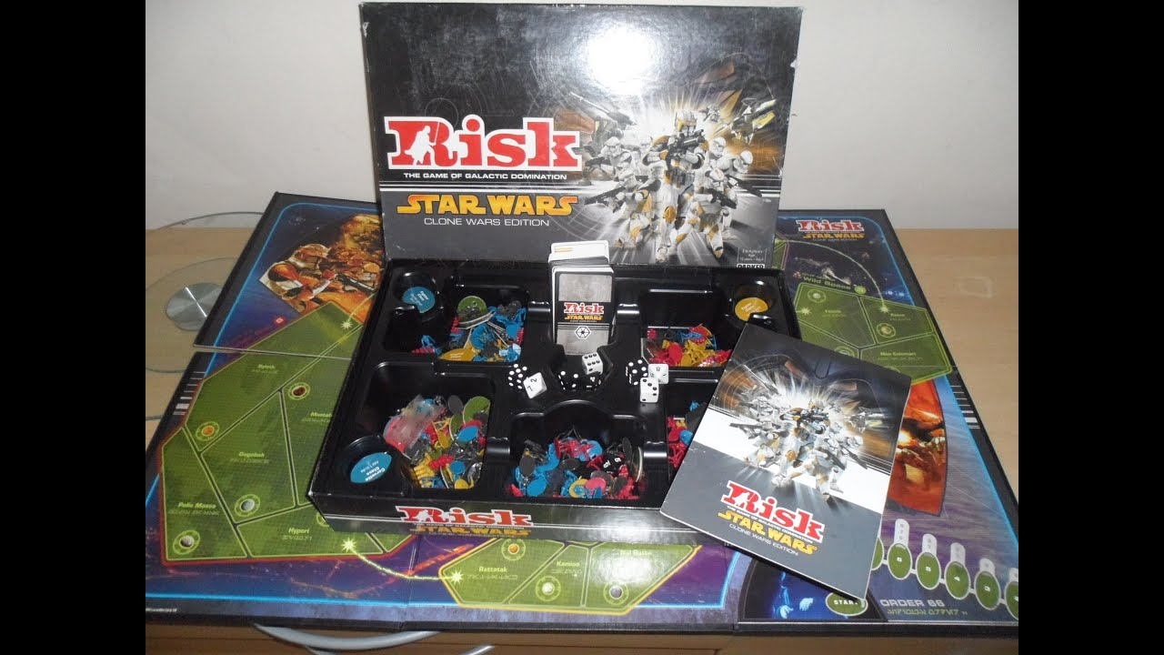 Two star wars games. Chess original star wars saga. Risk the.