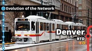 Denver's Light Rail & Commuter Rail Network Evolution