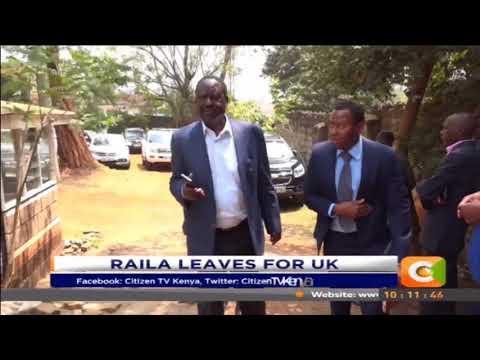 Citizen Extra:Raila Odinga leaves Kenya for UK
