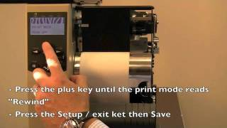 How to load a label rewinder on a Zebra 140 xi 4.m4v