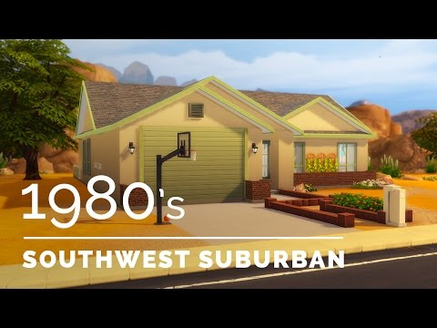 Sims 4  |  Decade Build Series  |  1980s Southwest Suburban