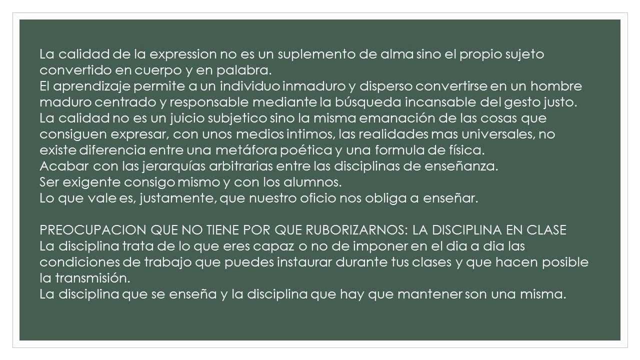 CARTA A UN BUEN PROFESOR presentacion - YouTube