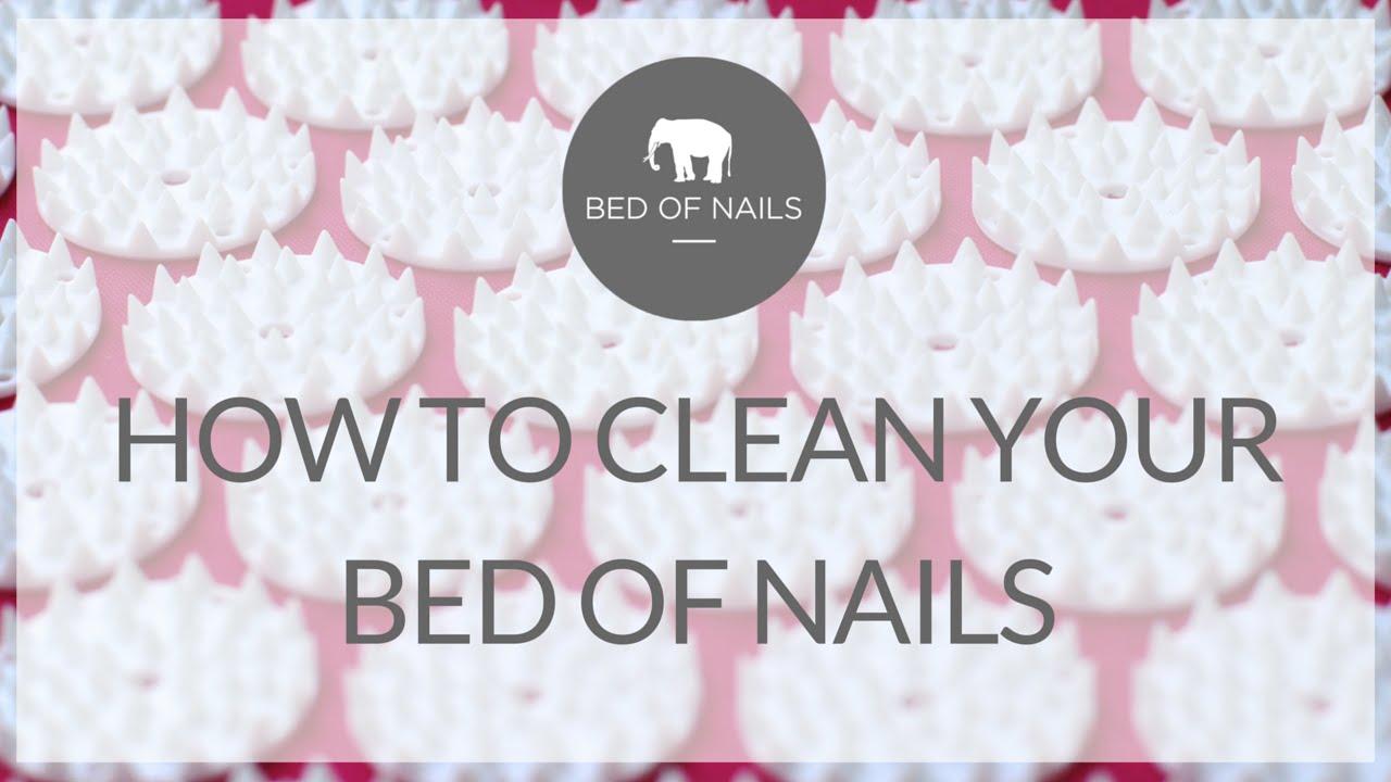 How to clean your bed - How To Clean Your Bed Of Nails Acupressure Mat
