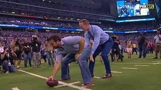 Peyton Manning Throws TD Pass To Reggie Wayne During Jersey Retirement Ceremony!