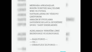 ÜCRETSİZ MAÇ-WWE İZLEME~ANDROİD