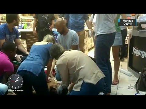 Câmeras de segurança flagraram tiroteio durante assalto no Rio | SBT Notícias (20/04/18)