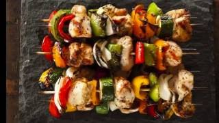 Herb Chicken and Vegetable Kabobs