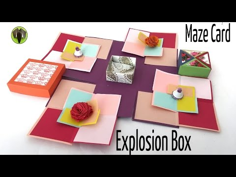 SUPER MAZE EXPLOSION BOX CARD - DIY Tutorial by Paper Folds ❤️