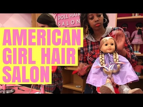 American Girl Goes To AG Hair Salon - Tenney