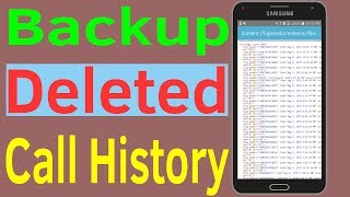 Call History Recovery : How to recover deleted call history From Android Device #HelpingMind