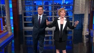Carol Burnett Helps Stephen Start The Show