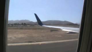 Boeing 757 Landung auf Fuerteventura