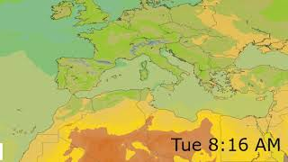 Mediterranean Surface Temperature Weather Forecast HD: 19 May 2019 [Updated at 0000 hours UTC]