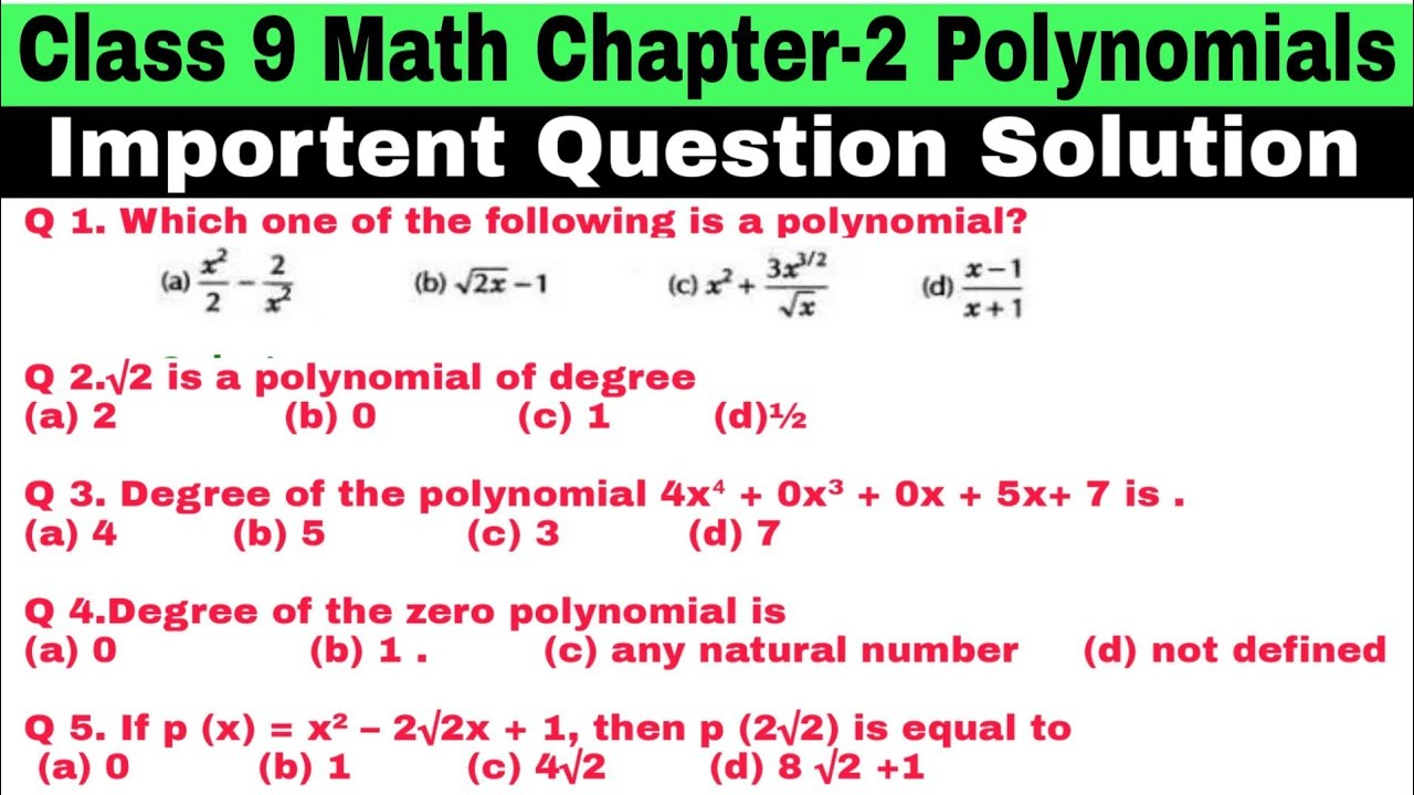 hight resolution of Course: Mathematics - Class 9