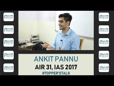 Toppers Talk with AIR 31, Ankit Pannu - How to approach Civil Services Exam?