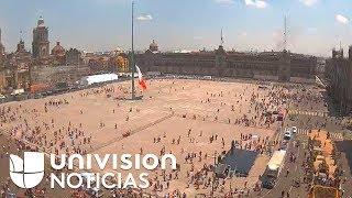 Video: Así se sintió el terremoto en el Zócalo de México