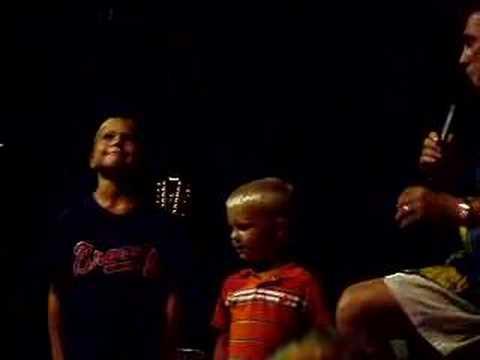 Boys on stage in Hilton Head
