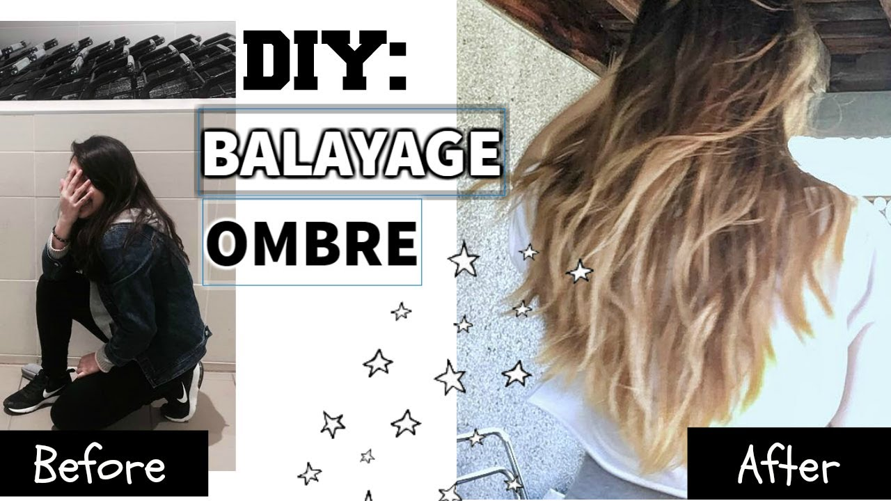 Diy How To Balayage Ombre Ombre Hair At Home Youtube