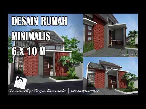 Desain Rumah Minimalis Lebar 5 Meter  desain rumah minimalis 6 x 10 m youtube