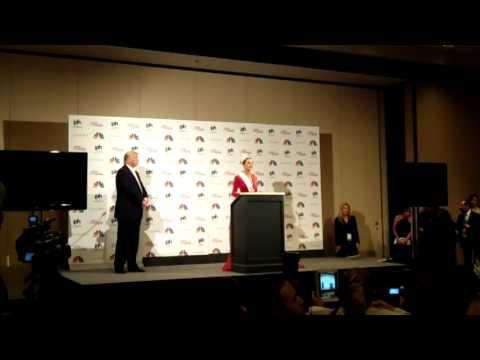 MISS Universe 2012 Olivia Culpo Donald Trump Press Conference 12-19-12
