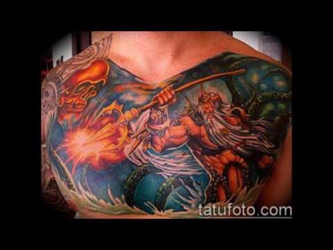 тату океан - фото татуировок и информация про значение