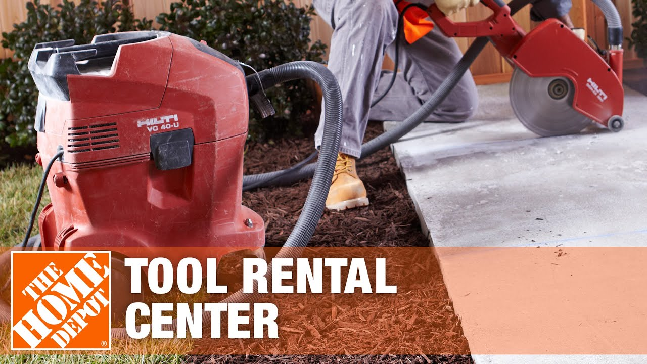 This saw can also cut. Concrete Saws Tool Rental Center The Home Depot Youtube