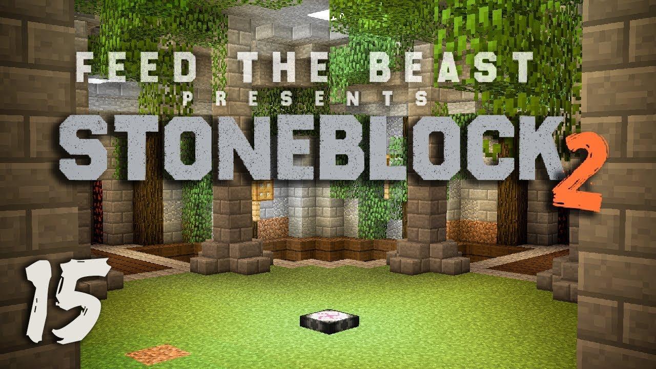 StoneBlock 2 Modpack Ep  15 Base Timelapse + Base Redesign