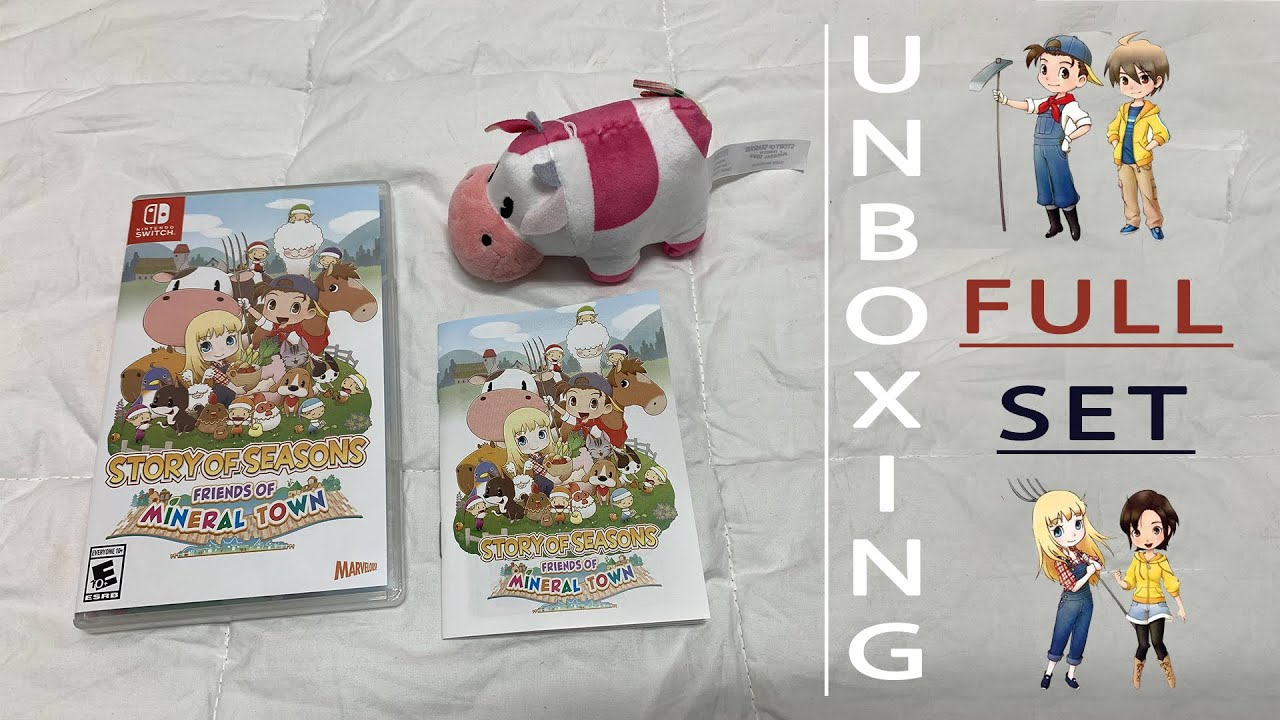 Unboxing Full Set & Manuals | Story of Seasons: Friends of Mineral Town