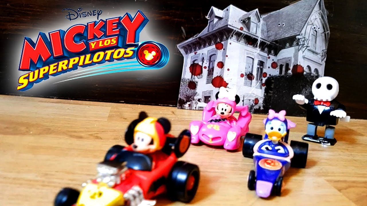 Junior Pilots Disney Super Minivehiculos The And Mickey Toys Halloween Race PZXiku
