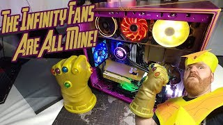 INSANE Custom Ryzen 1080 ti THANOS PC!!!!!